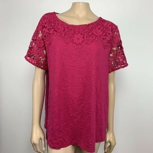Charter Club Lace Embellished Top